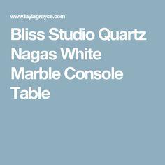 Bliss Studio Quartz Nagas White Marble Console Table
