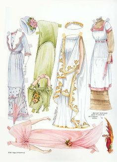 1911 paper doll clothes