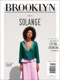 Quintessential fly girl Solange Knowles covers the latest issue of Brooklyn Magazine. In the cover story, Solange: All in the Family, the songstress describes Brooklyn's role in shaping her career . Editorial Layout, Editorial Design, Text Poster, Gig Poster, Mise En Page Magazine, Afro, Solange Knowles, Photoshop, Branding