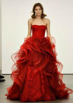 Fotos de Vestidos de Novia Rojos