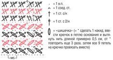 Митенки с узором «Шишечки» - схема вязания крючком. Вяжем Митенки на Verena.ru