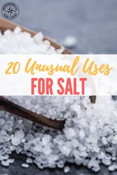 20 Unusual Uses For Salt - Salt will be a valuable resource to have in a SHTF situation, great to barter with and great to have to help around the homestead, so get stockpiling now. Salt has actually been worth more than gold in the past.