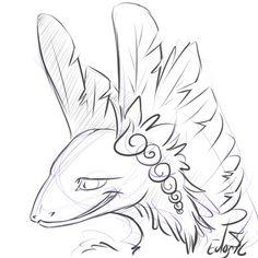 Doodle for Karika over on FR #Dragon #FlightRising #art #doodle