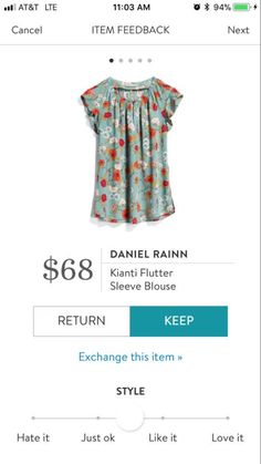 To stitch fix person: It's cute. Like the pattern, I'm not positive how that shade of green would look on me - I'd have to try it to see