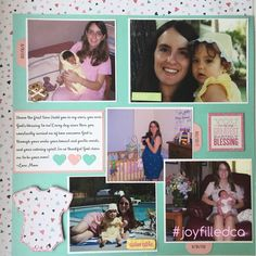 Mommy & me page. This page was designed to remember the special years when it was just the two of them. Album by JoyFilled Custom Albums. #joyfilledca. #scrapbooking #babylayout. #mommyandme