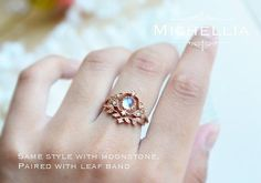Vintage Rose Opal Ring in 14k or 18K Solid by MichelliaDesigns