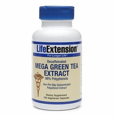 Life Extension Decaffeinated Mega Green Tea Extract, Vegetarian Capsules
