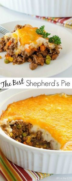 Shepherd's Pie (Cottage Pie when using beef). This was really good! I made a thin layer of ricotta and parmesean to go under the
