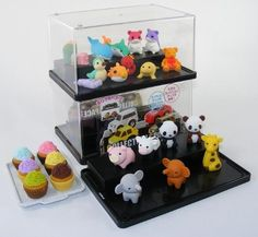 New Eraser Display Case Japanese Iwako by IWAKO. $14.98. Attractive display for your erasers or small collectibles
