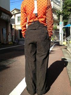 Black pants with braces