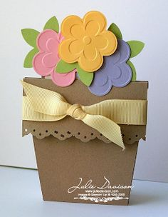 Julie's Stamping Spot -- Stampin' Up! Project Ideas Posted Daily: Flower Pot Card