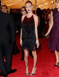 Kate Bosworth matches burgundy lips and clutch! Delicious! The MET Ball 2012, ELLEuk.com