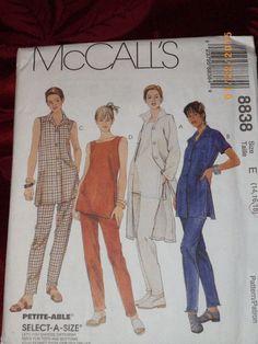 Miss McCall 8838 Sewing Pattern UNCUT FF Shirt Top Pants Size 14-16-18 UNCUT #McCall #TopPants