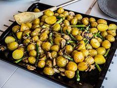 Rostad färskpotatis med sparris och champinjoner | Zeinas Kitchen | Bloglovin'