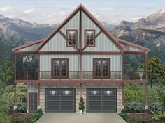 Carriage House Plan with Wrap-Around Porch - House Plans, Home Plan Designs, Floor Plans and Blueprints Carriage House Plans, Barn House Plans, Small House Plans, House Floor Plans, Barn Plans, Garage Apartment Plans, Garage Apartments, Garage Design, House Design