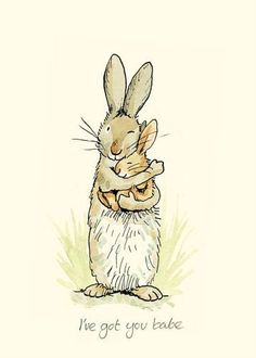 Illustration Moon I& got you babe by Anita Jeram Illustration Mignonne, Art Et Illustration, Cute Drawings, Animal Drawings, Lapin Art, Anita Jeram, Art Fantaisiste, Rabbit Art, Bunny Art