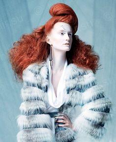 Hair: Charlie Price, Makeup: Leslie Munsell, Photo: Babak