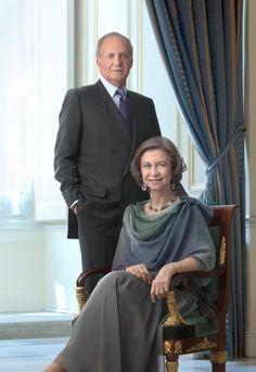 King Juan Carlos and Queen Sofía of Spain.
