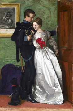 The Black Brunswicker by John Everett Millais    The painting was inspired in part by the exploits of the Black Brunswickers, a volunteer corps of the Napoleonic Wars, during the Waterloo campaign.