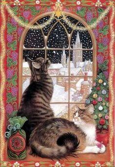 Christmas Window -  Lesley Anne Ivory