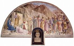 Fra Angelico, Adoration of the Magi and Man of Sorrows (Cell 39), 1441-42, fresco, 1175 x 357 cm, Convento di San Marco, Florence