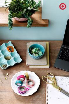 These technically may be dishes, but no one's stopping you from filling them with desk knickknacks—it's decor and organization in one.