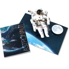 Pop-up Card (Astronaut) - Pop-up Cards - Realistic Crafts/Space - Paper Craft - Canon Creative Park Canon, Inkjet Printer, Pop Up Cards, Space Crafts, Page Layout, Fun Prints, Astronaut, Paper Size, Card Templates