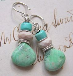 Chrysoprase, Sleeping Beauty Turquoise, Mookiate, Sterling