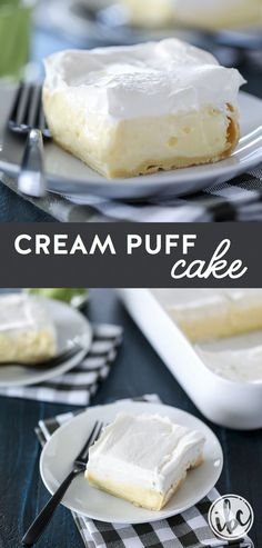 This Cream Puff Cake is one of my favorite #spring and #summer #dessert #recipes. It's a winner every time! #creampuff #cake