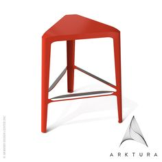 Arktura Clic Mid Stool available at LoftModern.com #red design