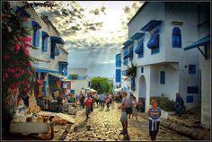 Sidi Bou Said, Tunisia Sidi Bou Said, Carthage Tunisia, Teaching Overseas, Reserva Natural, World Cities, North Africa, The Good Place, Beautiful Places, Amazing Places