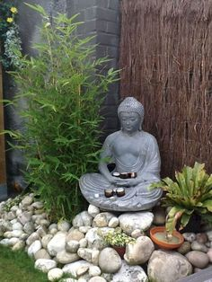 simple DIY garden art design ideas simple DIY garden art design ideas Buddha Garden Fountain LED Water Feature Self Contained Ornament NEW by Serenity 5017730353073