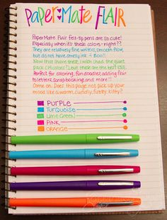PaperMate Flair Writing Sample by GourmetPens, via Flickr
