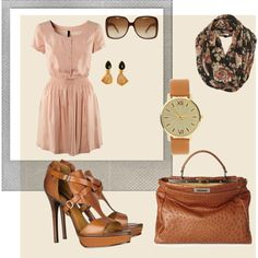 Cute outfit... $12 dress... $12,000 purse.... WTW!?!? But cute anyhow... really gotta find a knock off purse like that!