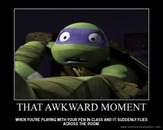 That awkward moment... so true this happen to me all the time and my friends think I do it on purpose thank goodness it never hits anyone