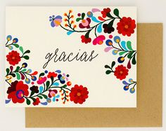 Destination Wedding Thank You Cards - Gracias - Colorful Mexican Embroidery Inspired – Summer Wedding Card (Rachel Suite) Handmade Wedding Invitations, Destination Wedding Invitations, Wedding Cards Handmade, Diy Wedding, Trendy Wedding, Mexican Invitations, Destination Wedding Save The Dates, Mexican Flowers, Mexican Embroidery