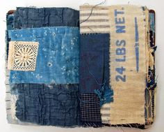 Thread and thrift only more denim текстиль, искусство, коллаж. Fabric Journals, Art Journals, Altered Books, Altered Art, Textiles, Round Robin, Shibori, Fabric Art, Fabric Books