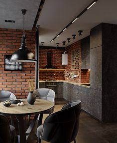 How to choose kitchen furniture ? - Home Fashion Trend Small American Kitchens, Small Galley Kitchens, Black Kitchens, Mens Kitchen, Loft Kitchen, Kitchen Furniture, Kitchen Interior, Mexican Style Kitchens, Industrial Kitchen Design