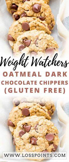 Ww Desserts, Healthy Desserts, Dessert Recipes, Healthy Cookies, Healthy Baking, Healthy Eats, Weight Watchers Snacks, Weigh Watchers, Dark Chocolate Recipes