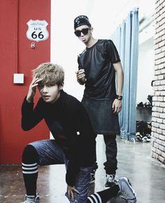 V & Rap Monster