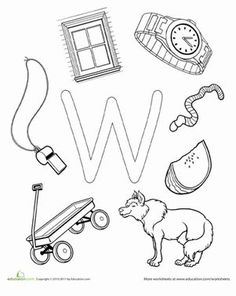 Preschool The Alphabet Letter W Worksheets: W Is For...