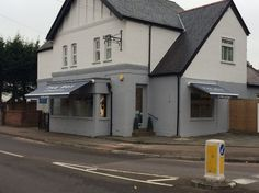 The Box Hairdressers in Cheshunt with their new awnings by Deans Blinds & Awnings