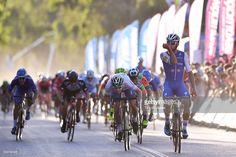 #VueltaSJ 35th Tour of San Juan 2017 / Stage 4 Arrival / Fernando GAVIRIA (COL) Celebration / Elia VIVIANI (ITA)/ Nicola RUFFONI (ITA)/ San Martin - San Martin (160,5km)/ Etapa San Martin/ Vuelta A San Juan / ©Tim De Waele