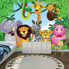 Nursery Design Carpet Jungle Kids Wallpaper Room Photo