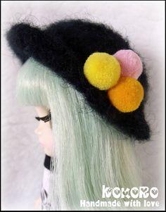 Blythe Middie Felted Hat by kokorogumis on Etsy, $15.00