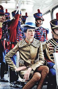 Stella Tennant by Mario Testino. Vogue US, September 2012.