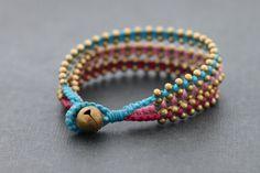 Tri Band Berry Brass Bracelet by XtraVirgin on Etsy