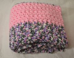 Pink Baby Girl Blanket Baby shower gift by CupeycakeCreations