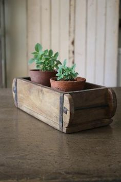 Original vintage brick moulds from India.They make great planters, or home/office storage. As they are handmade original vintage items, they are all slightly different. How To Make Tassels, How To Make Ribbon, Wooden Storage Boxes, Wooden Boxes, Storage Ideas, Vintage Shop Display, Paper Confetti, Confetti Cones, Wooden Tea Box