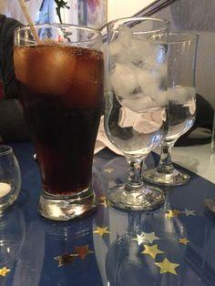 Diet coke, water glasses, Star Grill, Winnipeg, Manitoba
